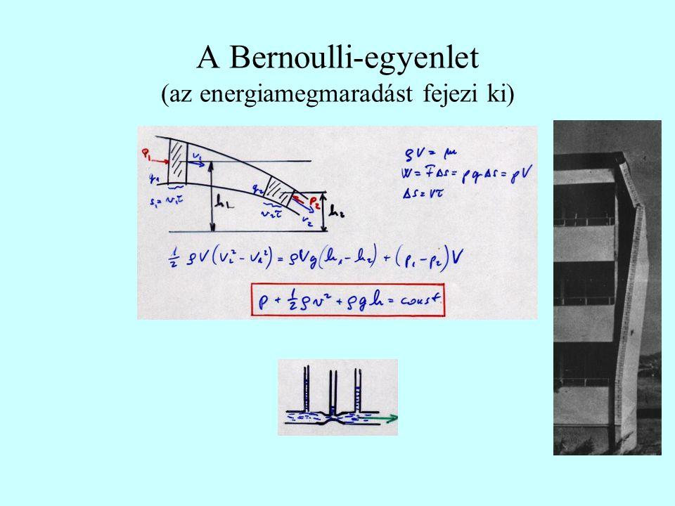 A Bernoulli-egyenlet (az energiamegmaradást fejezi ki)