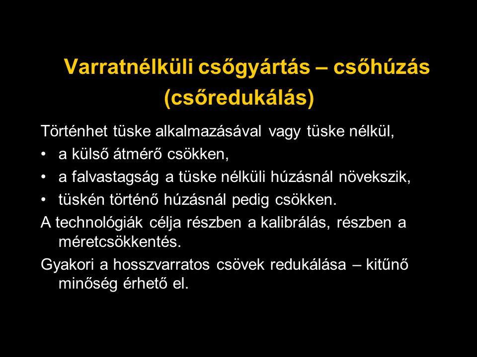 Varratnélküli csőgyártás – csőhúzás (csőredukálás)