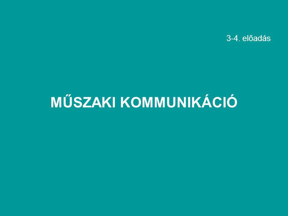 3-4. előadás MŰSZAKI KOMMUNIKÁCIÓ