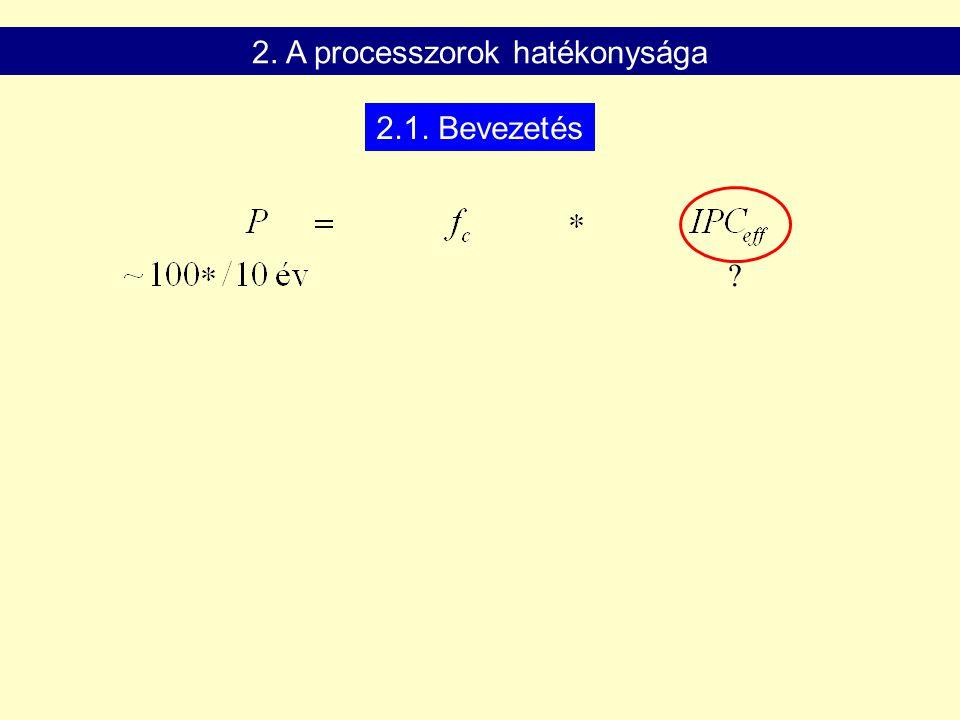 2. A processzorok hatékonysága