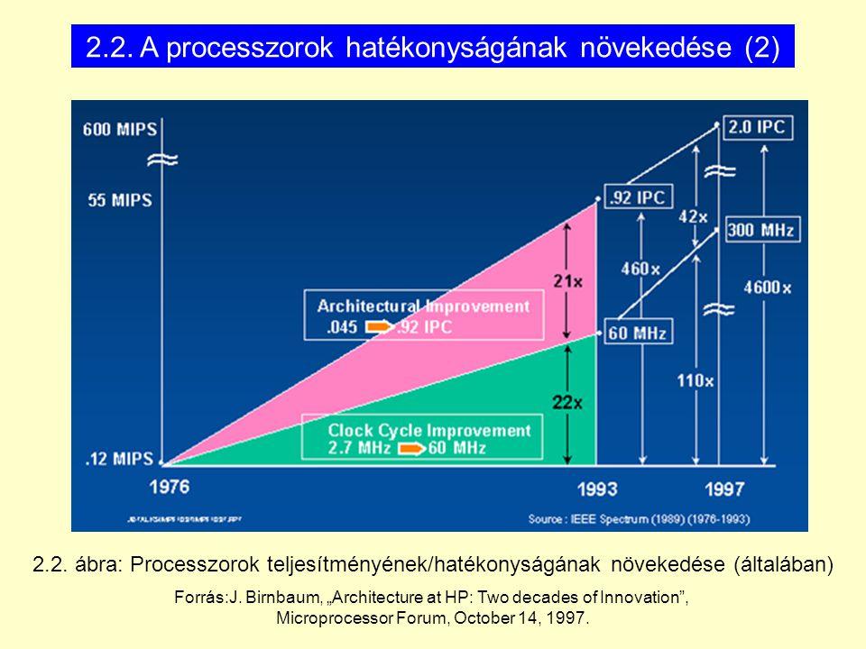2.2. A processzorok hatékonyságának növekedése (2)