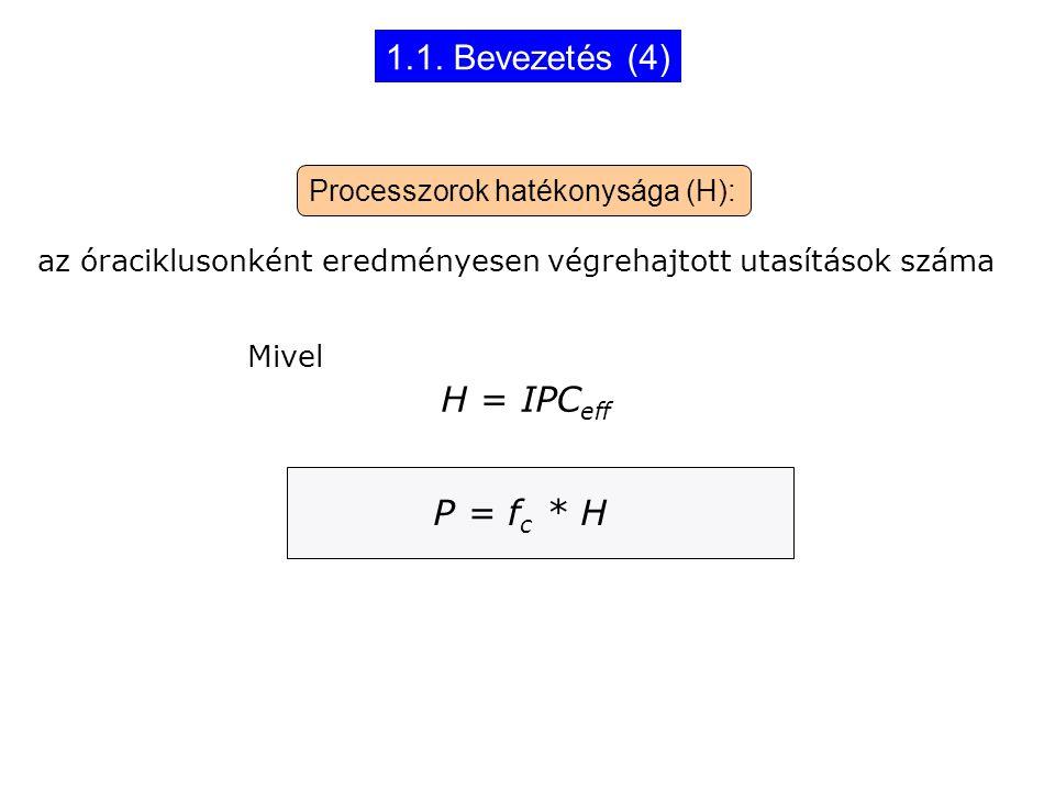 1.1. Bevezetés (4) H = IPCeff P = fc * H