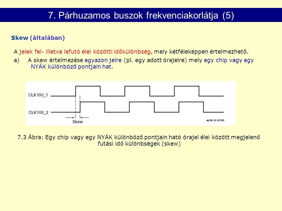 7. Párhuzamos buszok frekvenciakorlátja (5)
