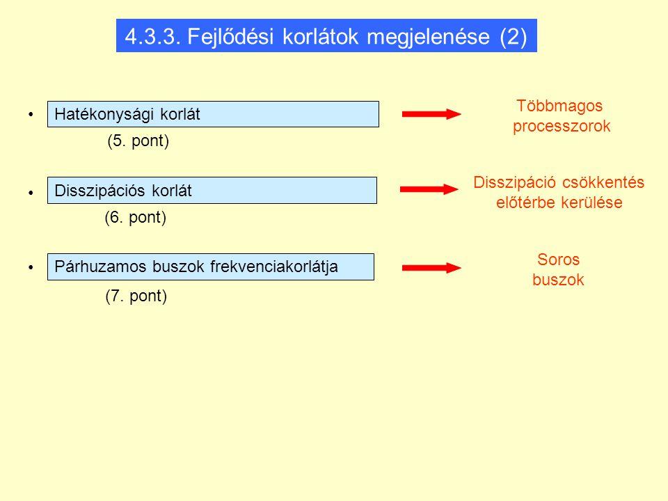 4.3.3. Fejlődési korlátok megjelenése (2)