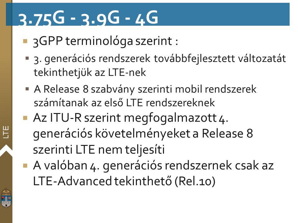 3.75G - 3.9G - 4G 3GPP terminológa szerint :