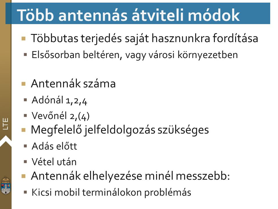Több antennás átviteli módok