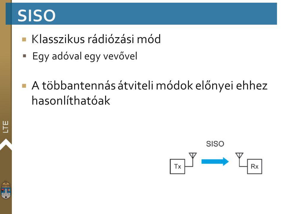 SISO Klasszikus rádiózási mód