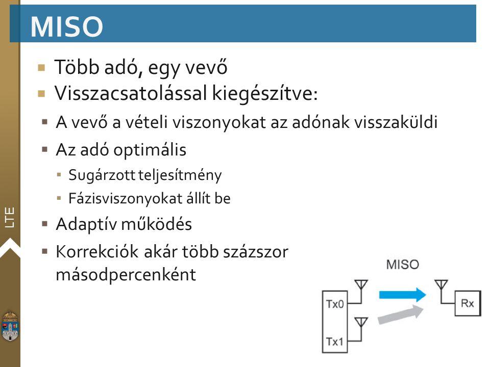 MISO Több adó, egy vevő Visszacsatolással kiegészítve: