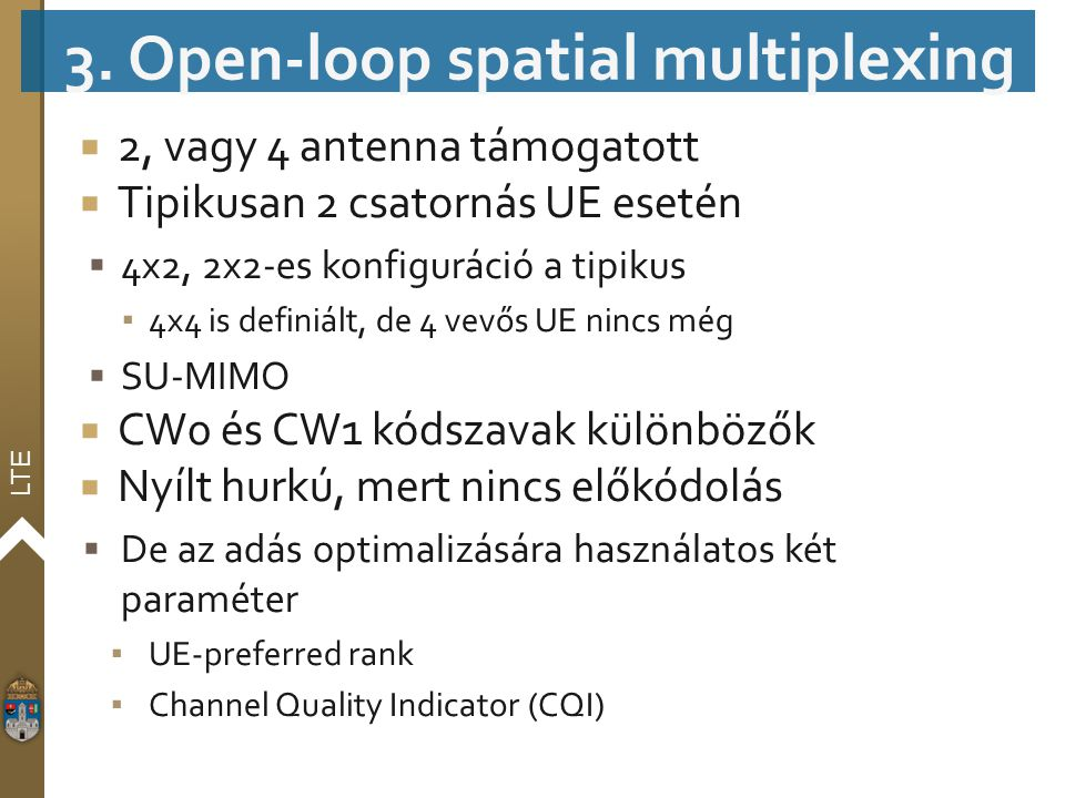 3. Open-loop spatial multiplexing