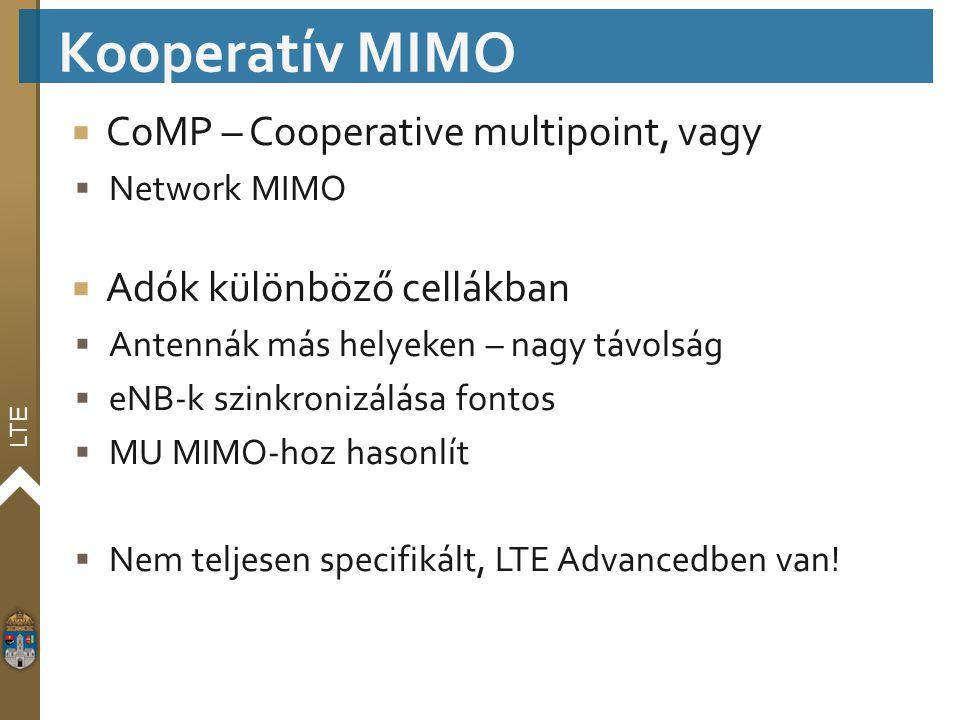 Kooperatív MIMO CoMP – Cooperative multipoint, vagy
