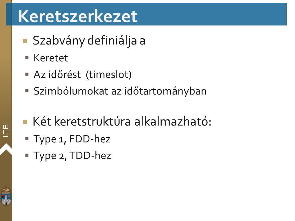 Keretszerkezet Szabvány definiálja a Két keretstruktúra alkalmazható: