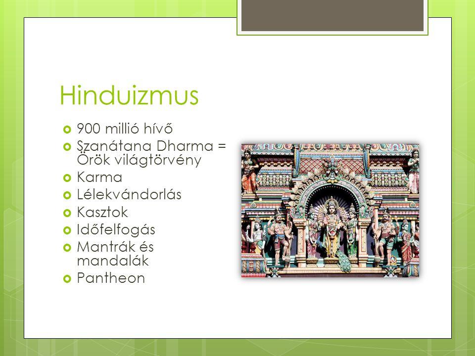 Hinduizmus 900 millió hívő Szanátana Dharma = Örök világtörvény Karma