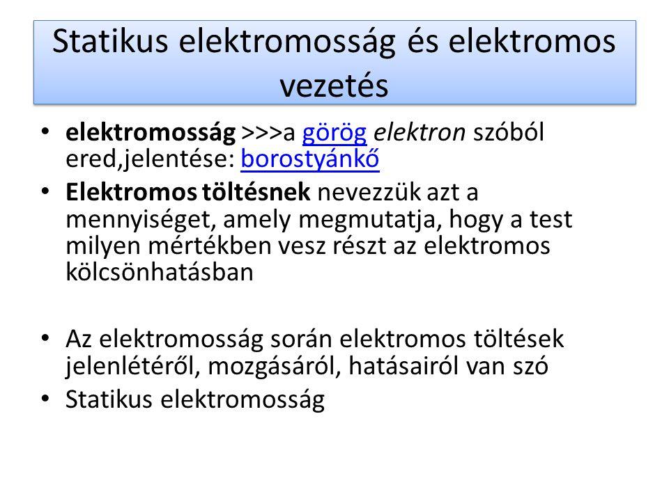 Statikus elektromosság és elektromos vezetés