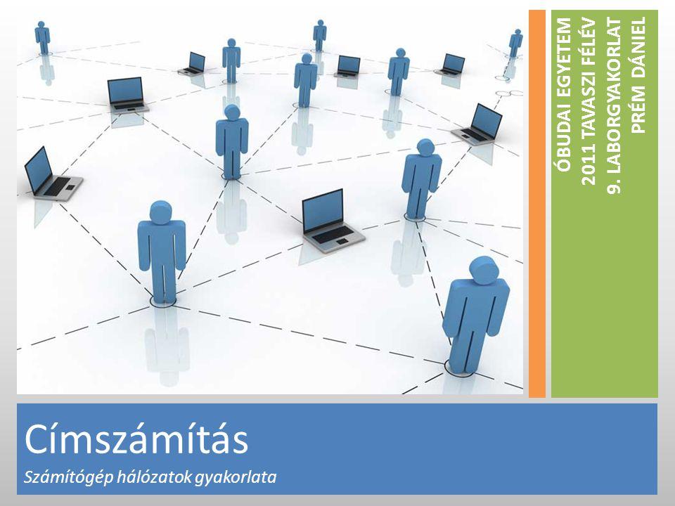 Címszámítás Számítógép hálózatok gyakorlata