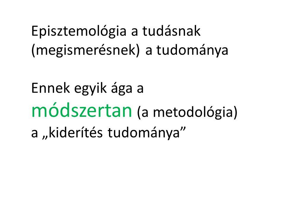 Episztemológia a tudásnak (megismerésnek) a tudománya