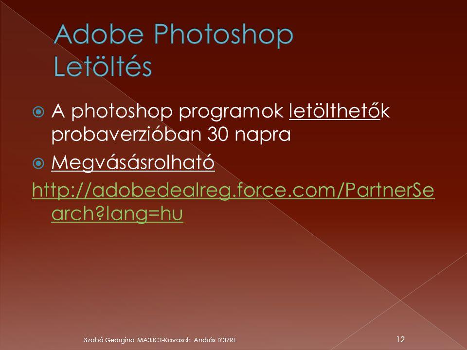 Adobe Photoshop Letöltés