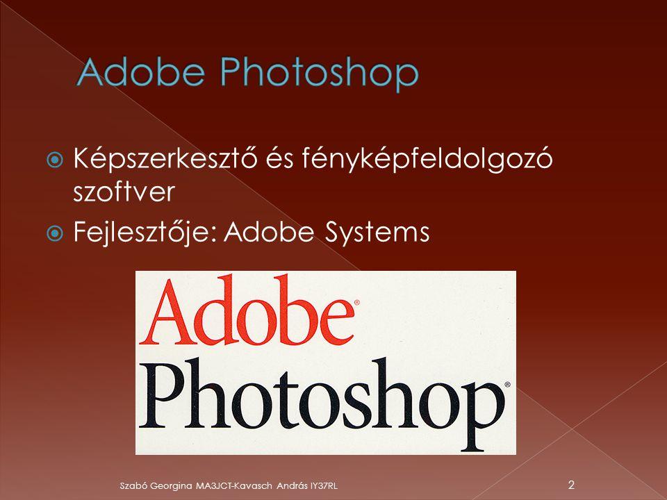 Adobe Photoshop Képszerkesztő és fényképfeldolgozó szoftver