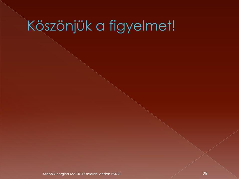 Köszönjük a figyelmet! Szabó Georgina MA3JCT-Kavasch András IY37RL