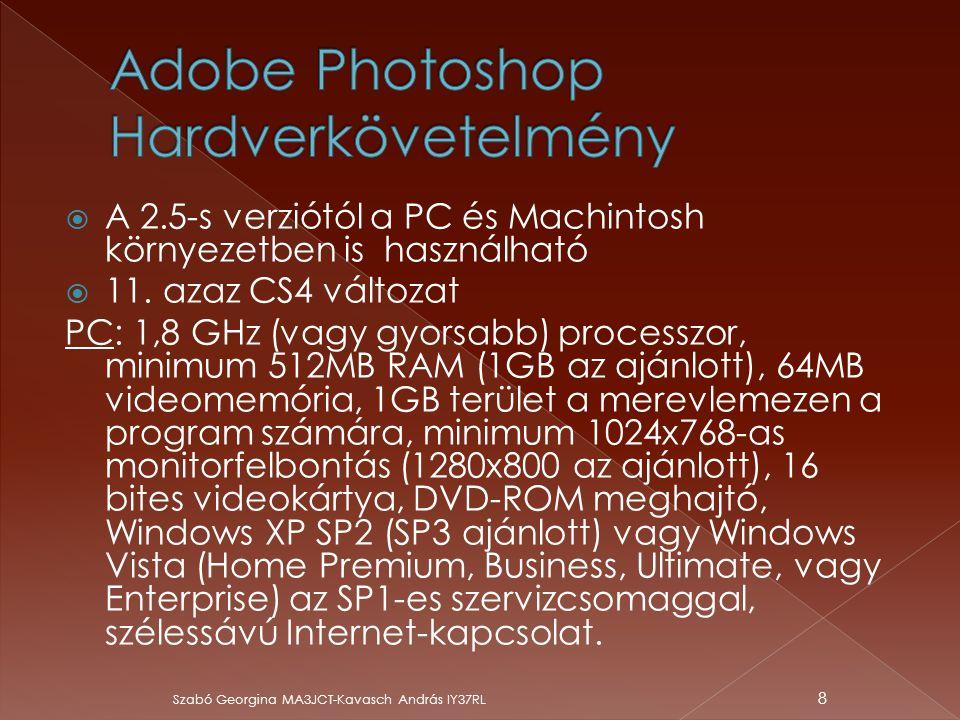 Adobe Photoshop Hardverkövetelmény