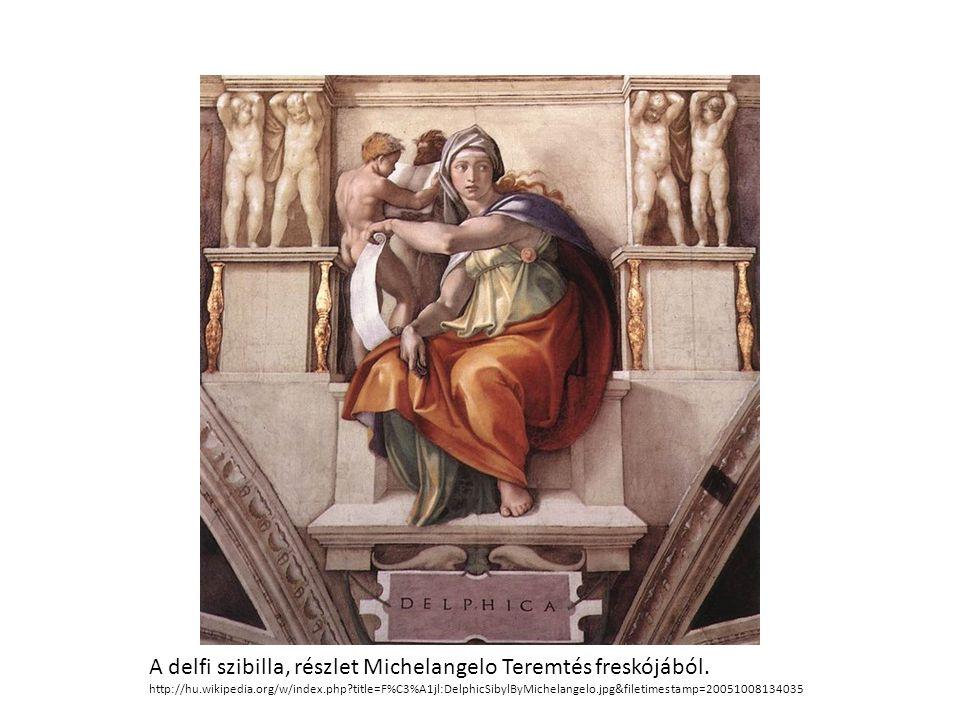 A delfi szibilla, részlet Michelangelo Teremtés freskójából.