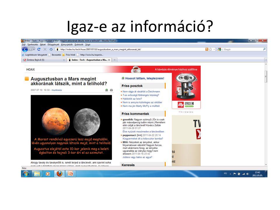 Igaz-e az információ