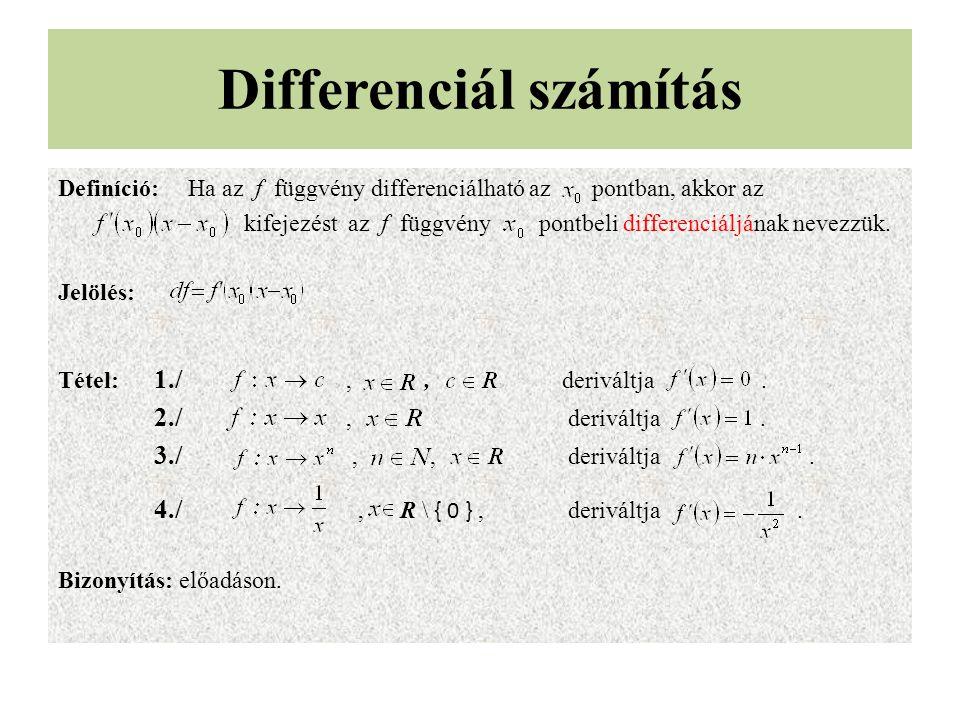 Differenciál számítás