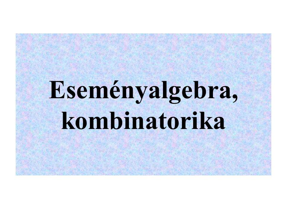 Eseményalgebra, kombinatorika