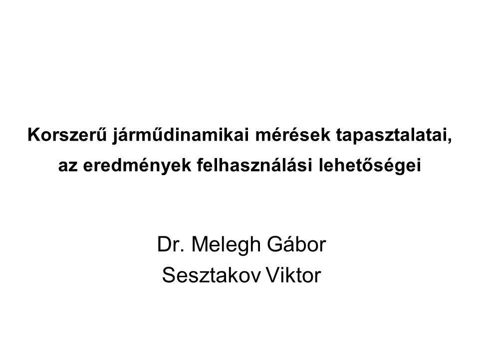 Dr. Melegh Gábor Sesztakov Viktor