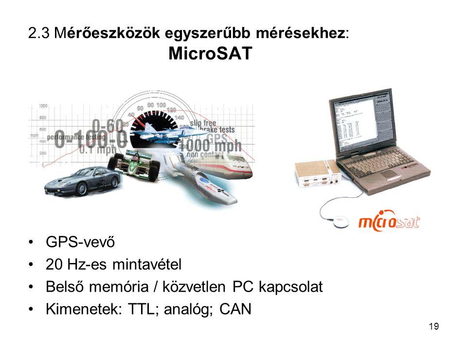2.3 Mérőeszközök egyszerűbb mérésekhez: MicroSAT