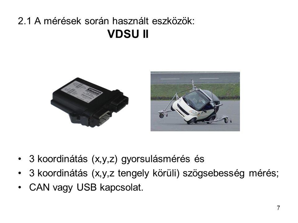 2.1 A mérések során használt eszközök: VDSU II
