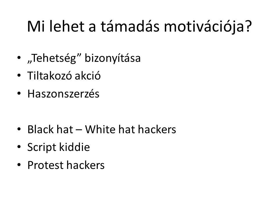 Mi lehet a támadás motivációja