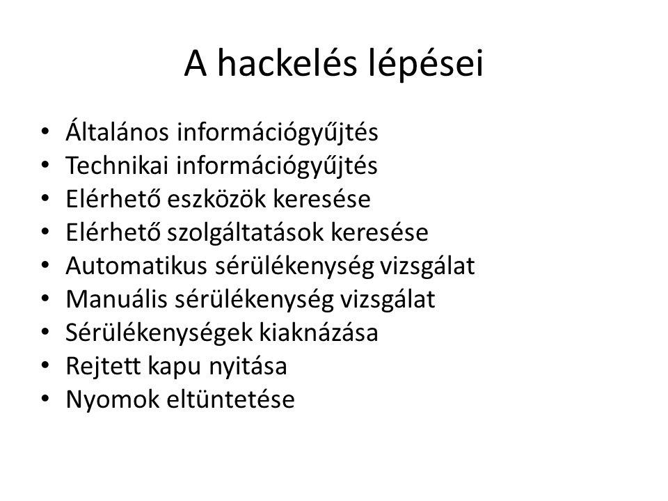 A hackelés lépései Általános információgyűjtés