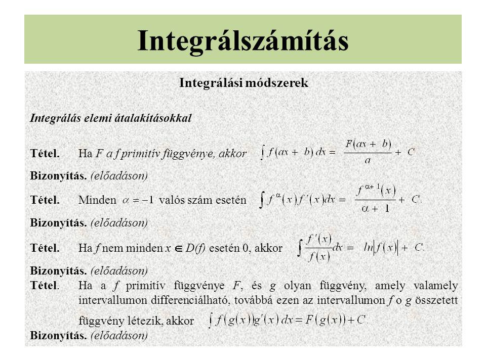 Integrálási módszerek