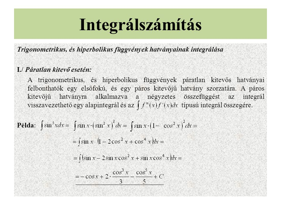 Integrálszámítás