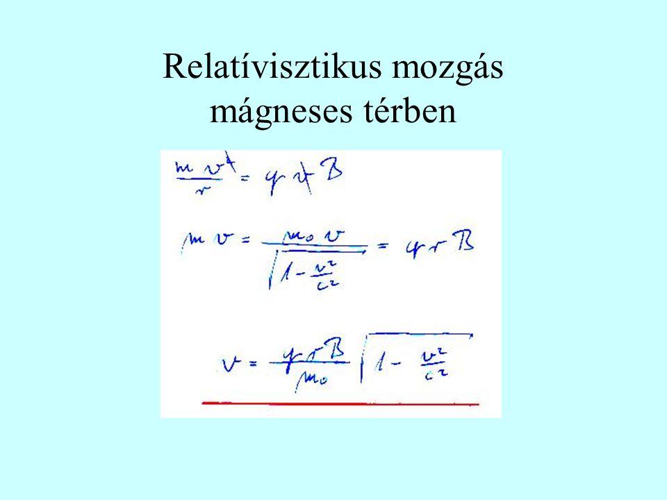 Relatívisztikus mozgás mágneses térben