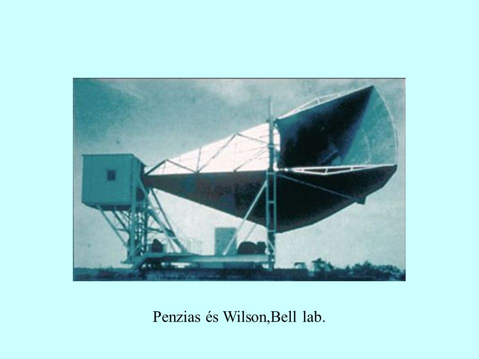 Penzias és Wilson,Bell lab.