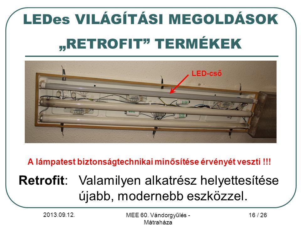 A lámpatest biztonságtechnikai minősítése érvényét veszti !!!