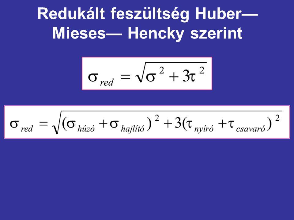 Redukált feszültség Huber—Mieses— Hencky szerint