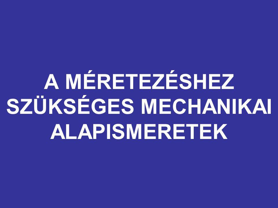 A MÉRETEZÉSHEZ SZÜKSÉGES MECHANIKAI ALAPISMERETEK