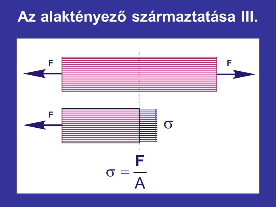 Az alaktényező származtatása III.