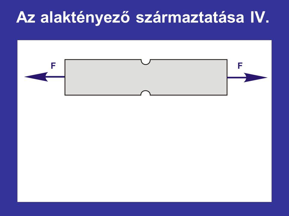 Az alaktényező származtatása IV.