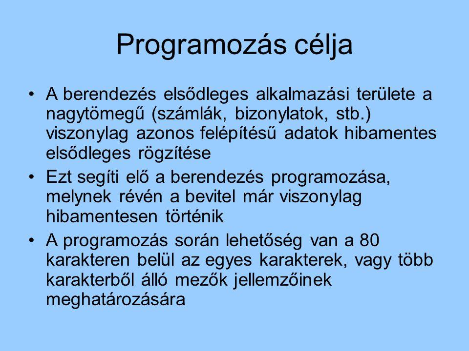 Programozás célja