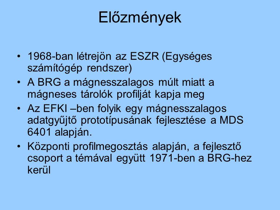 Előzmények 1968-ban létrejön az ESZR (Egységes számítógép rendszer)