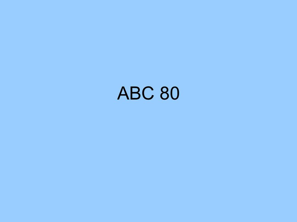 ABC 80