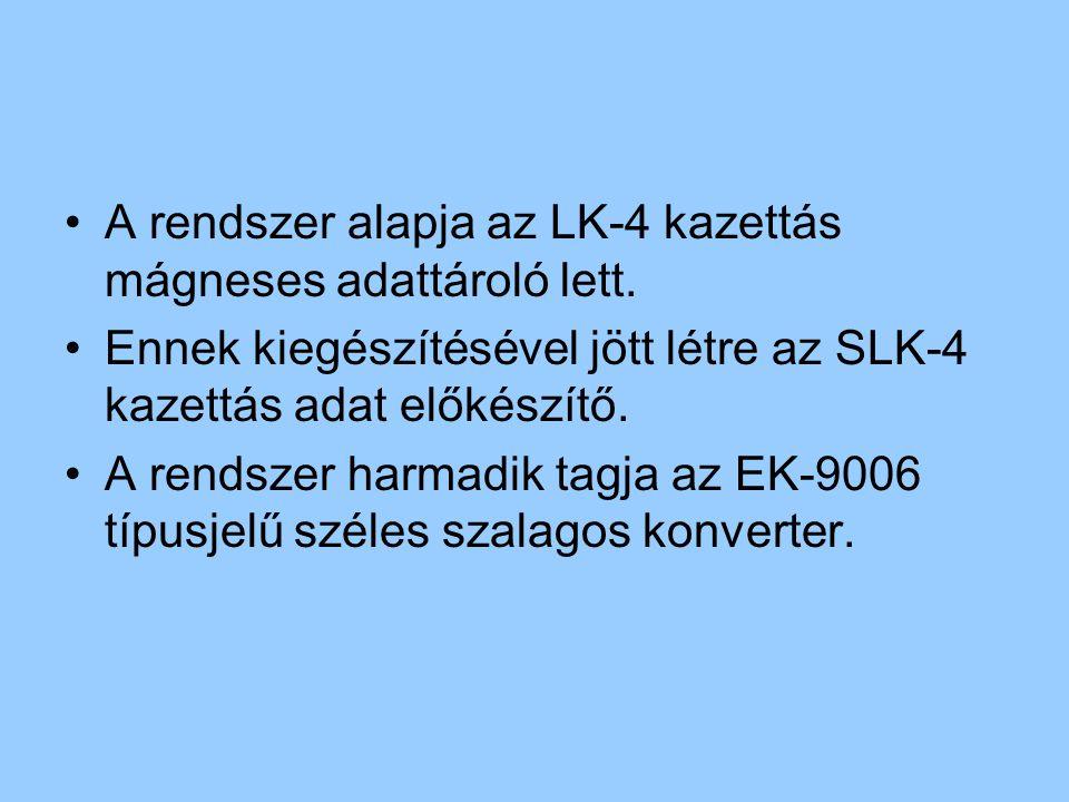 A rendszer alapja az LK-4 kazettás mágneses adattároló lett.