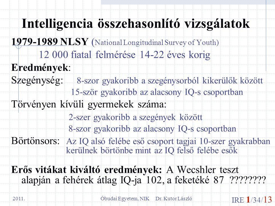 Intelligencia összehasonlító vizsgálatok