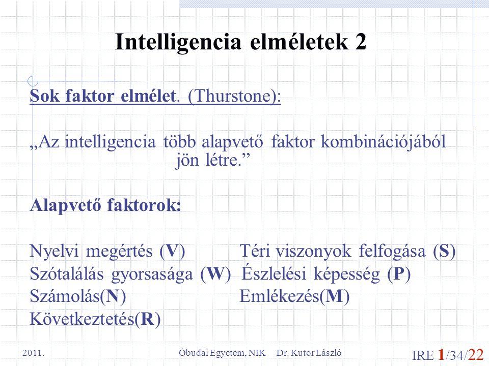 Intelligencia elméletek 2