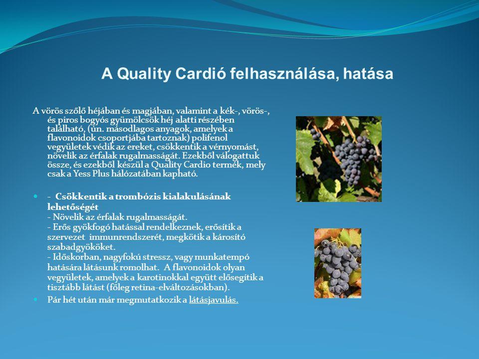 A Quality Cardió felhasználása, hatása