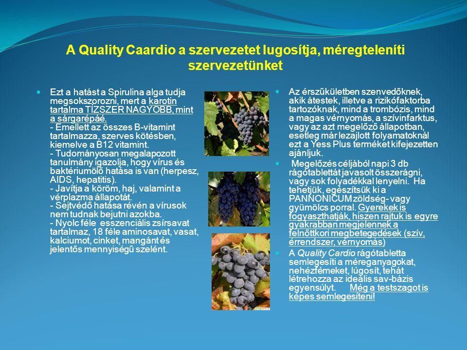 A Quality Caardio a szervezetet lugosítja, méregteleníti szervezetünket