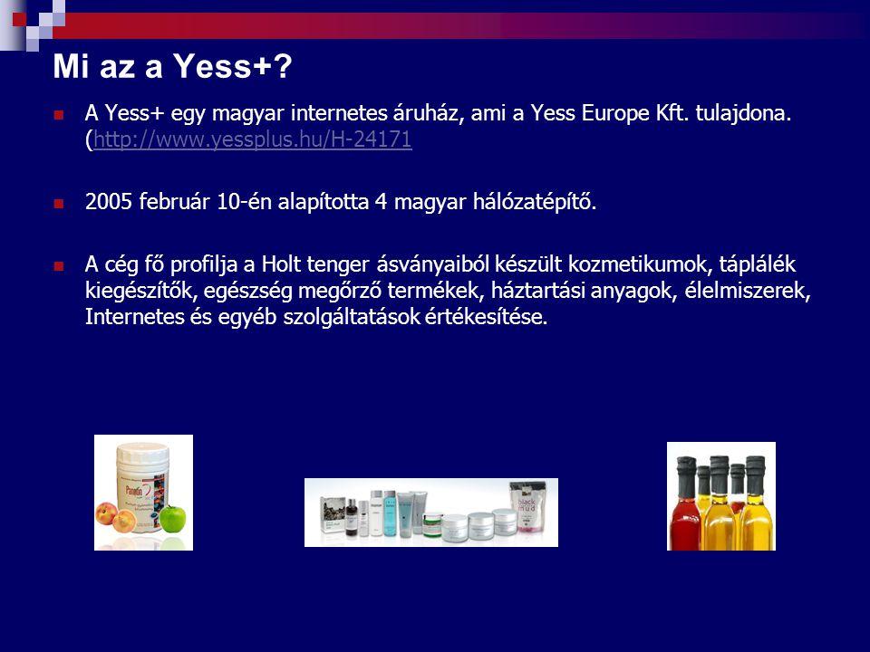 Mi az a Yess+ A Yess+ egy magyar internetes áruház, ami a Yess Europe Kft. tulajdona. (http://www.yessplus.hu/H-24171.